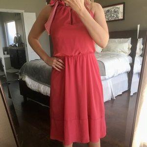 WHBM Pink Midi Dress size 8. EUC